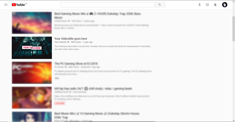 Modern Thumbnail Example