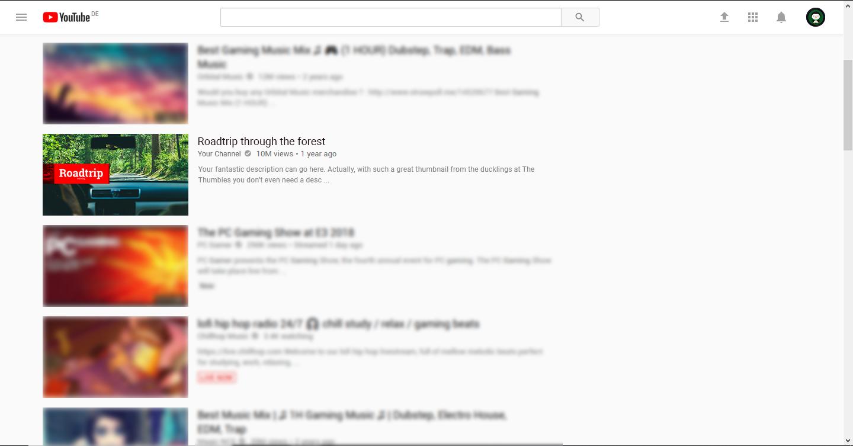 Headline Thumbnail Example
