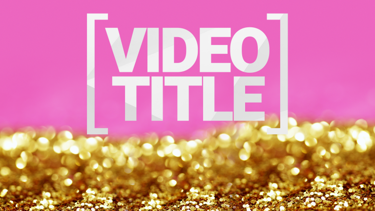 Glitter Thumbnail