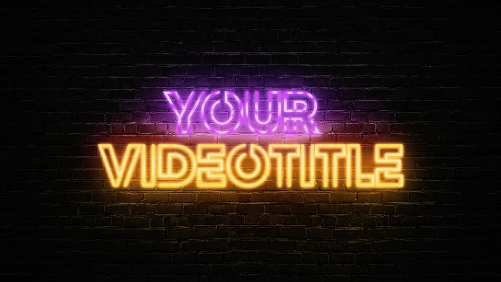 Neon Text Thumbnail